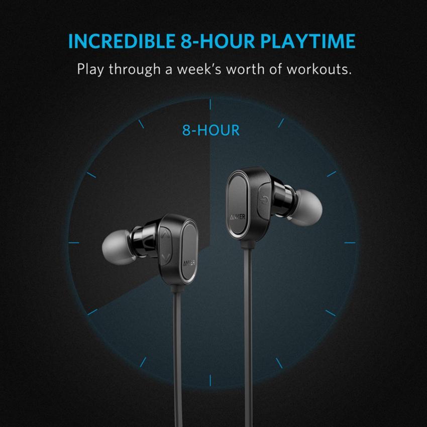 Hình ảnh Tai Nghe Bluetooth Anker SoundBuds Sport A3233 (Đen) - Hãng phân phối chính thức