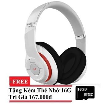 Tai nghe bluetooth chụp tai TM010S (trắng) + Tặng kèm Thẻ nhớ 16G