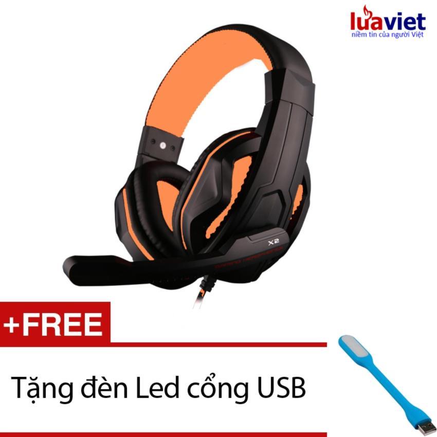 Hình ảnh Tai nghe chơi game OVANN X2 (Vàng Đen) + Tặng 1 đèn LED USB