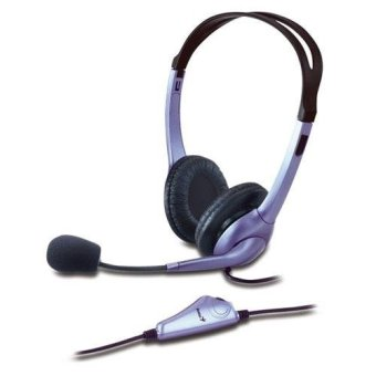Tai nghe Genius chụp tai có mic HS-04S (Tím)