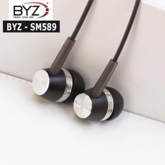 Tai nghe nhét tai BYZ SM-589 phong cách thời thượng (Đen)