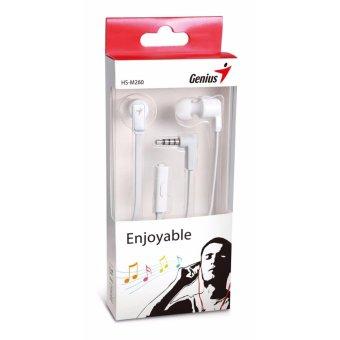 Tai nghe nhét tai có mic Genius HS-M260 - Hãng phân phối chínhthức. (White)
