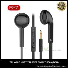 Tai nghe nhét tai stereo BYZ S389 hộp nguyên seal (Đen)