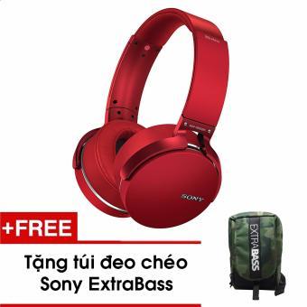 Tai nghe Sony MDR-XB950B1 Bluetooth EXTRA BASS - Màu Đỏ - Tặng túi đeo chéo ExtraBass
