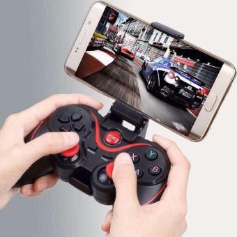 Tay cầm chơi game không dây bluetooth Gamepad + Tặng kèm giá đểđiện thoại