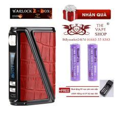 Thân - Mod thuốc lá điện tử Vape / Shisha Rofvape Warlock Z-box 233 Box Mod (Đỏ) + Tặng 2 pin sạc + 1 sạc đôi – Hàng nhập khẩu