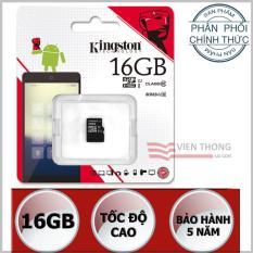 Thẻ nhớ 16GB Kingston UHS1 Class10 microSDHC (Đen) - Hãng Phân phối chính thức