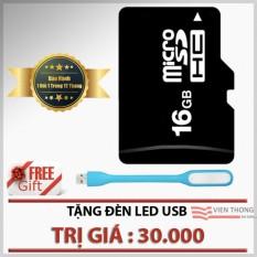 Thẻ nhớ 16GB Micro SDHC class 6 (Đen)+ Đèn led