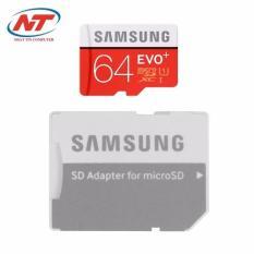 Thẻ nhớ MicroSDXC Samsung EVO Plus 64GB 80MB/s kèm Adapter