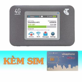 Thiết Bị Phát Wifi 3G/4G Netgear Aircard 782S+Sim 4G Vinaphone60GB/Tháng