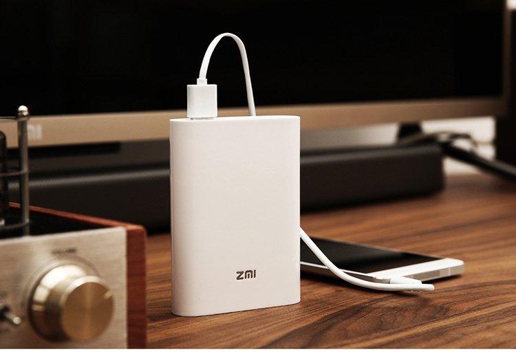 Thiết bị phát wifi từ sim 3G/4G Xiaomi ZMI MF855 Và 01 Sim 3G Có Sẵn 62Gb Data (Trắng)