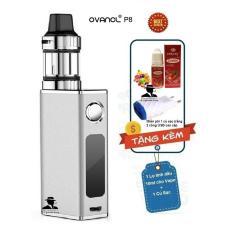 Thuốc lá điện tử công suất 50W siêu khói OVANCL P8 Box VAPE KIT (Bạc) + Quà tặng 1 lọ tinh dầu +1 củ sạc trắng Travel Charger có 2  cổng USB  – Hàng nhập khẩu