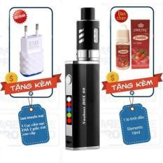 Thuốc lá điện tử Vape - Shisha công suất 60w siêu khói cao cấp Nuoboss e-cigarette Box (Đen) sử dụng buồng đốt RTA tạo siêu khói + Quà tặng 1 lọ tinh dầu dâu + Khuyến mại 1 củ cắm sạc EKA cao cấp