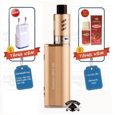 Thuốc lá điện tử Vape - Shisha siêu khói cao cấp Nuoboss e-cigarette Box 2600mah (Gold) sử dụng buồng đốt RTA tạo siêu khói + Quà tặng 1 lọ tinh dầu dâu + Khuyến mại 1 củ cắm sạc EKA cao cấp
