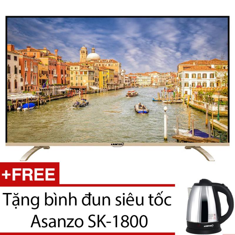 Bảng giá Tivi LED Asanzo 40 inch Full HD – Model 40T660 (Đen) + Tặng bình đun siêu tốc Asanzo SK-1800