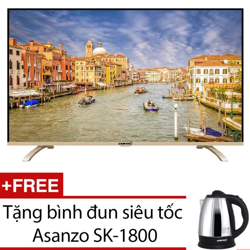 Bảng giá Tivi LED Asanzo 43inch Full HD – Model 43T650 (Đen) + Tặng bình đun siêu tốc Asanzo SK-1800
