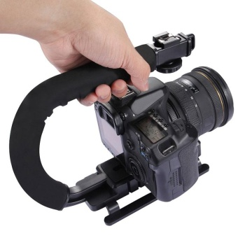 U Shape Video Handle Steadicam Stabilizer for All DSLR Camera DV Camcorder - intl