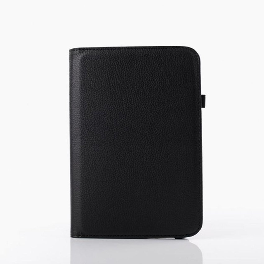 Hình ảnh Universal PU Leather Rotating Cover Case for 7 inch tablet Black - intl