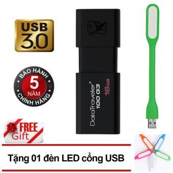 Đánh giá USB 3.0 16GB Kingston DataTraveler 100 G3 (Đen)  Tại Viễn Thông (Tp.HCM)
