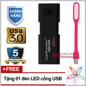 Giá USB 3.0 32GB Kingston DataTraveler 100 G3 (Đen)  Tại Viễn Thông (Tp.HCM)