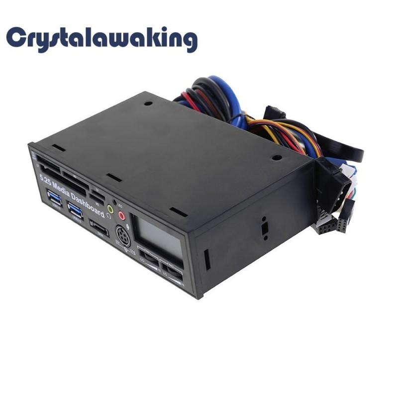 Bảng giá USB 3.0 High Speed Media Dashboard Front Panel PC USB Multi Card Reader (Black) - intl Phong Vũ