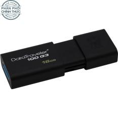 USB 3.0 Kingston Data Traveler DT100G3 100MB/s 16GB (Đen) - Hãng phân phối chính thức