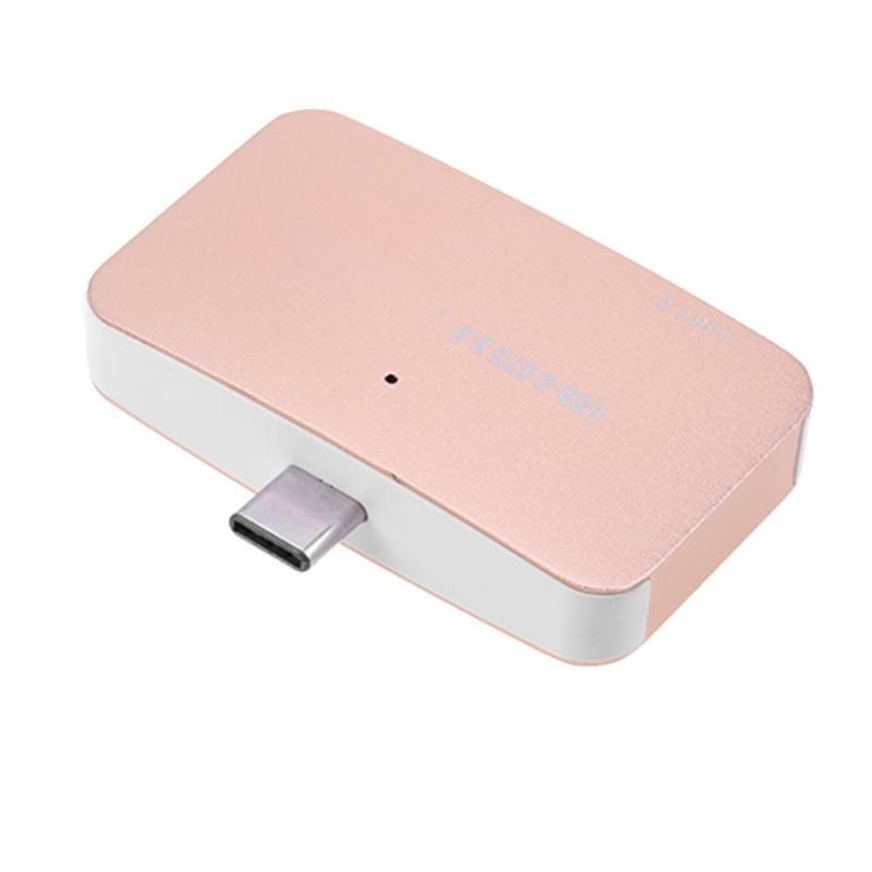 Bảng giá USB 3.0 Type C SD TF OTG High Speed Card Reader for Phone Laptop(Gold) - intl Phong Vũ