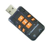 Chỗ bán USB sound âm thanh 3D chuẩn 8.1 Do Choi PC (Đen)