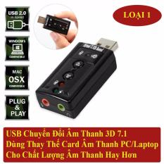 Chỗ bán USB Sound Âm Thanh PC/Laptop Out Loa 3D 7.1