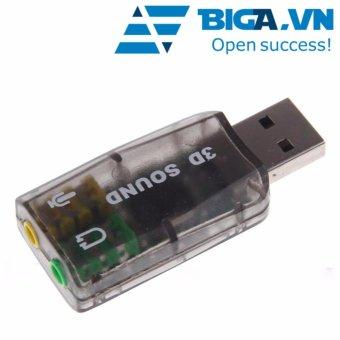 USB Sound Port Hỗ Trợ Âm Thanh 3D US04099 (Đen)
