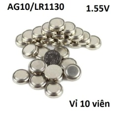 Bảng Giá Vỉ Pin cúc áo AG10 Alkaline 1.55V dùng cho các thiết bị điện tử… (vỉ 10 viên)