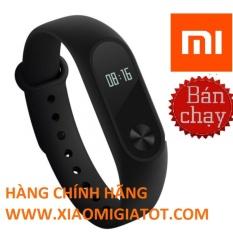 Vòng đeo tay Xiaomi Miband 2 (Đen) - Hàng nhập khẩu