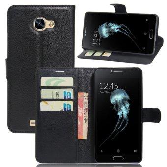 Wallet Flip Leather Case For Alcatel Flash Plus 2 (Black) - intl