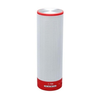 Wireless Bluetooth Portable Speaker With LED Colorful Light for Smartphone Red - intl