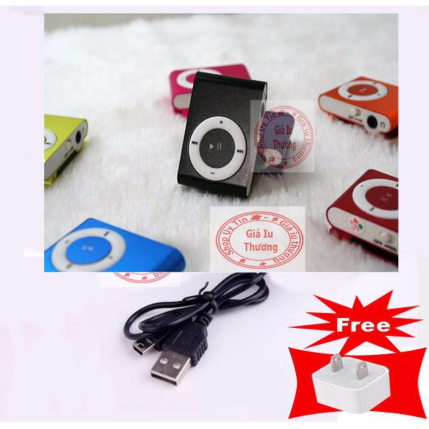 (Xem video)Máy nghe nhạc MP3 vỏ nhôm PeepVN (màu tùy ý) + Tặng 1 tai nghe nhét tai và 1...