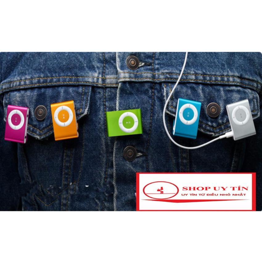 (Xem Video)Máy nghe nhạc MP3(màu tùy ý) vỏ nhôm,kẹp áo + cáp sạc