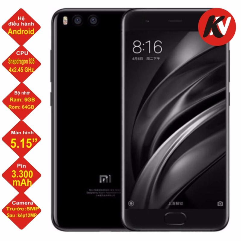 Xiaomi Mi 6 64GB Ram 6GB  2017 (Đen) - Hàng nhập khẩu