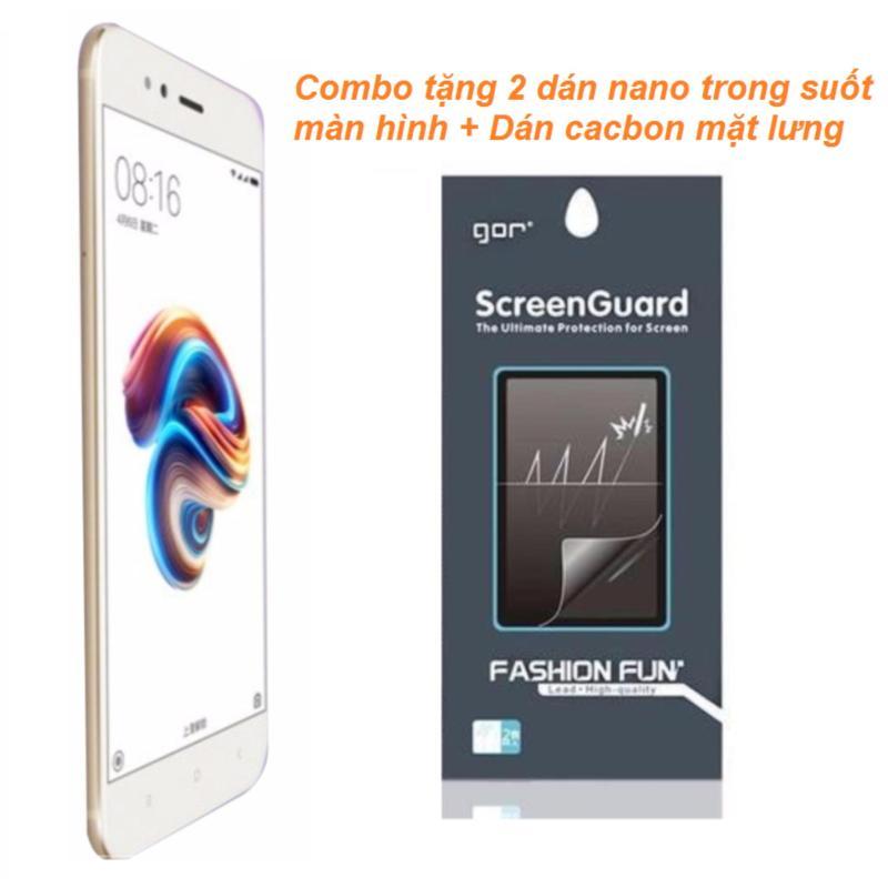 Xiaomi Mi5X 64GB 4GB Ram (Vàng) + 2 Dán Nano màn hình + Dán cacbon mặt lưng - Hàng nhập khẩu