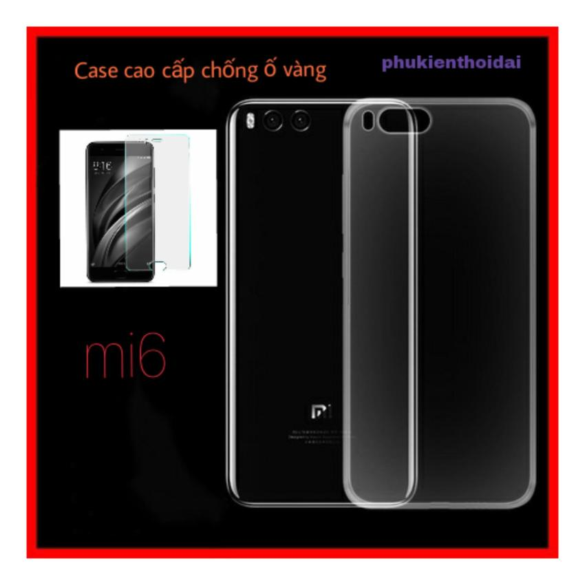 Hình ảnh Xiaomi Mi6 Combo Ốp Dẻo Chống Ố Vàng / Kính Cường Lực (Keo Chống Hở Mép )