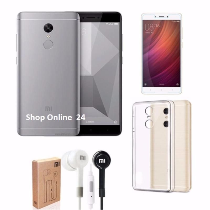 Xiaomi Note 4X 16GB Ram 3G (Xám) +Tai Nghe + Ốp Lưng + kính cường lực - Hàng nhập khẩu