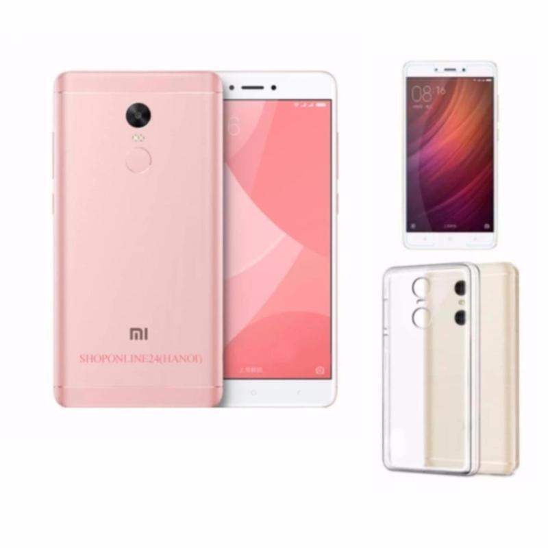 Xiaomi Note 4X Ram 4GB Rom 64GB (Hồng) + Ốp Lưng + Kính Cường Lực - Hàng nhập khẩu