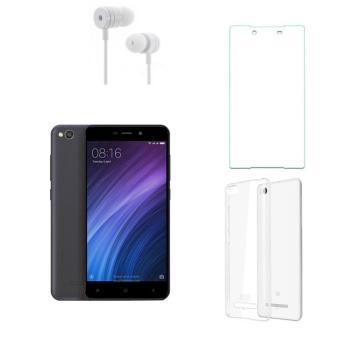 Xiaomi Redmi 4A 16G (Xám) + Ốp lưng + Kính cường lực + Tai nghe- Hàng nhập khẩu