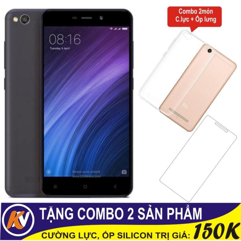 Xiaomi Redmi 4A 16GB Ram 2GB Kim Nhung (Đen) + Cường lực + Ốp Silicon - Hàng nhập khẩu