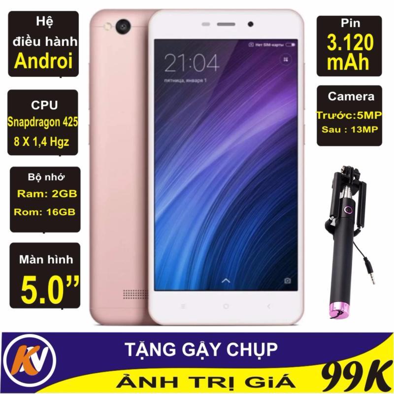 Xiaomi Redmi 4A 16GB Ram 2GB Kim Nhung (Hồng) - Hàng nhập khẩu + Gậy chụp ảnh
