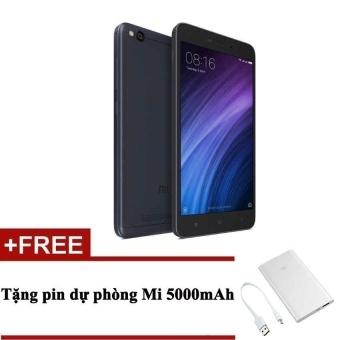 Xiaomi Redmi 4A (Xám)+ Tặng pin sạc dự phòng Mi PowerBank 5000 -Hãng phân phối chính thức