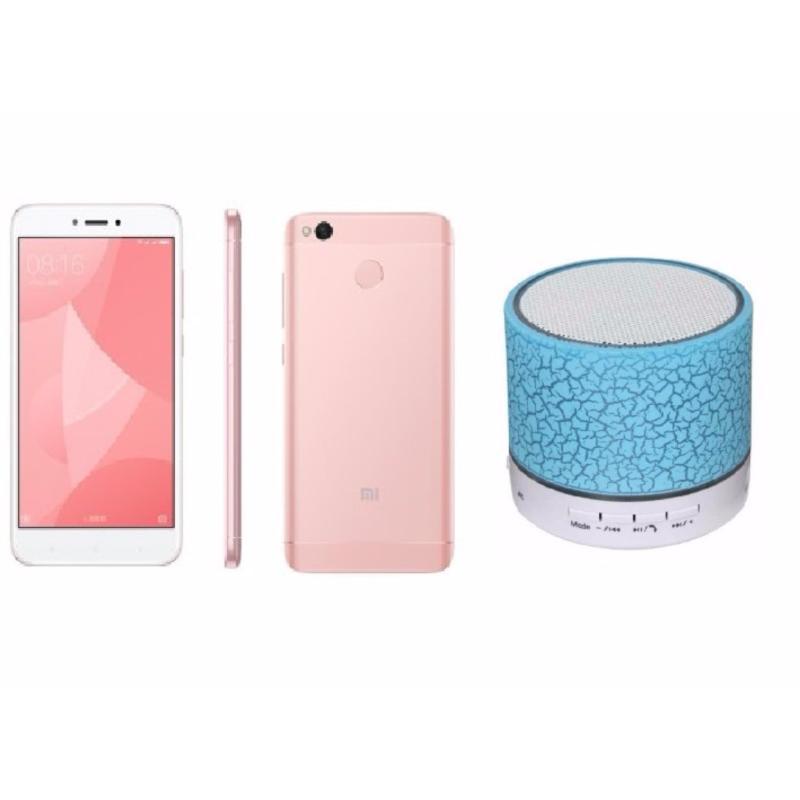 Xiaomi Redmi 4X 16GB (Hồng) + Loa Bluetooth - Hàng nhập khẩu