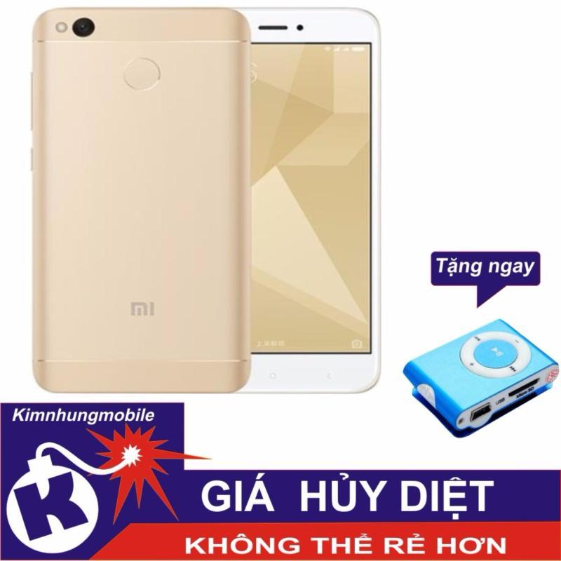 Xiaomi Redmi 4X 16GB (Vàng) - Hàng nhập khẩu +Máy nghe nhạc MP3