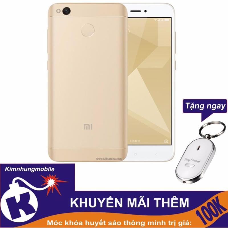 Xiaomi Redmi 4X 16GB (Vàng) Hàng nhập khẩu + Móc khóa huýt sáo thông minh