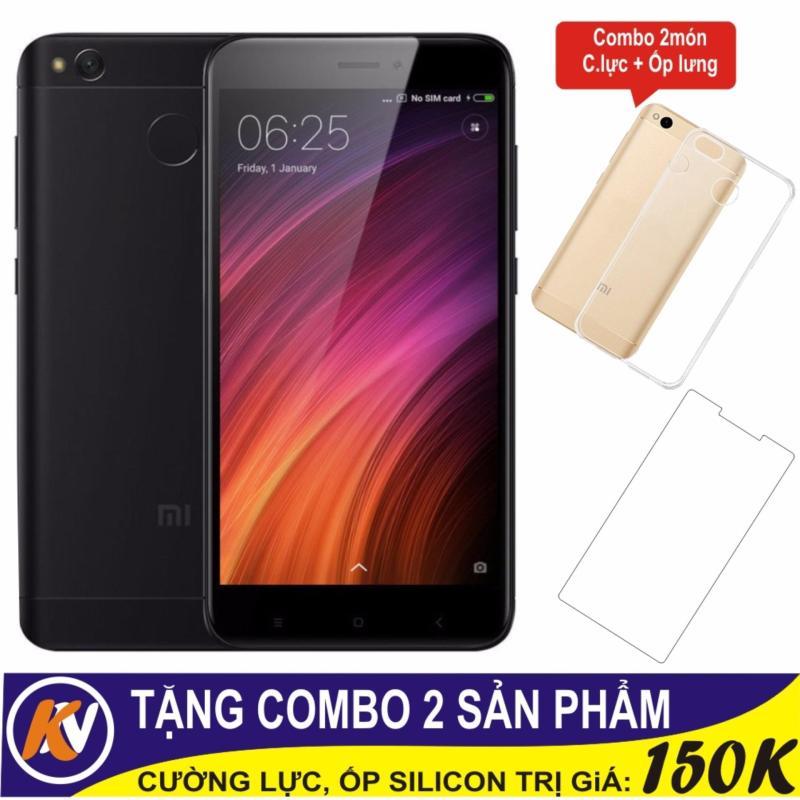 Xiaomi Redmi 4X 32GB Ram 3GB Kim Nhung (Đen) + Cường lực + Ốp Silicon - Hàng nhập khẩu