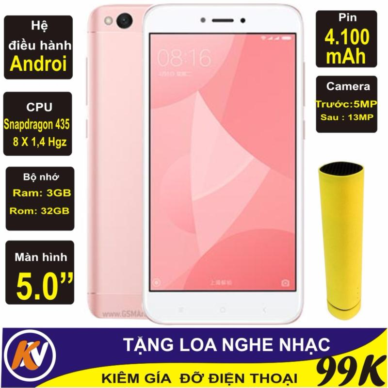 Xiaomi Redmi 4X Ram 3GB Rom 32GB Kim Nhung (Hồng) - Hàng nhập khẩu + Loa nghe nhạc 3 in 1